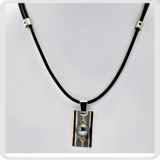collier homme tahitien